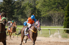 Horse Racing, Chiang Mai, Thailand Stock Photos