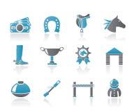 Horse Racing and gambling Icons Stock Photo
