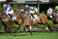 Horse Racing in Hong Kong - Happy Valley Racecourse Stock Image