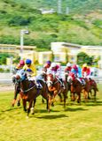 Horse racing in Port-Louis, Mauritius royalty free stock images