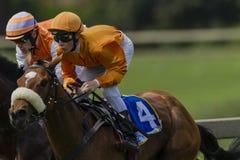 Horse Racing Jockeys Close Royalty Free Stock Photo