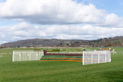 Horse Racing Jump Fence. On course Royalty Free Stock Images