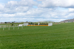 Horse Racing Jump Fence. On course Royalty Free Stock Image