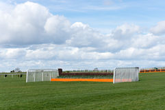 Horse Racing Jump Fence. Jump fence on horse racing course Royalty Free Stock Photography