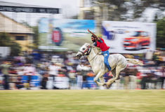 Horse racing. Kila Raipur Sports Festival, popularly known as the Rural Olympics is held annually in Kila Raipur near Ludhiana, in Punjab, India. Competitions royalty free stock photography