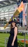 Horse Racing,Ladies day at Ascot. Lady's day at ascot 21-6-12 - It is the highlight of the summer social calendar and nothing - not even the prospect of the royalty free stock image