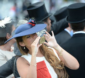 Horse racing,Ladies day at Ascot Royalty Free Stock Photography