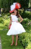 Horse racing,Ladies day at Ascot. Fashion at Ascot Races 19-6-14 stock photography