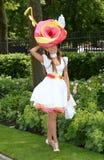 Horse racing,Ladies day at Ascot. Fashion at Ascot Races 19-6-14 stock photos
