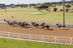 Horse Racing Landscape Royalty Free Stock Photos