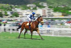 Horse racing in Mauritius Stock Photo
