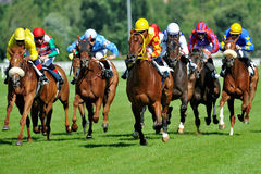 Horse racing in Milan, Italy Stock Photography