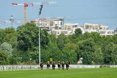 Horse racing in Milan, Italy Royalty Free Stock Photo