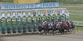 Horse Racing. At Monmouth Park Racetrack, New Jersey Stock Photos