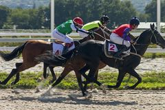 Horse racing in Pyatigorsk Stock Images