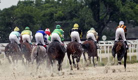 Horse racing in Pyatigorsk Royalty Free Stock Photos
