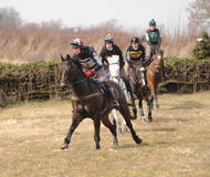 Horse Racing. Relentless 3rd knight frank open class fernie 7-4-13 dickie barrett on mani,rowan cope on coleorton dane,dougie gittins on bono and luke morgan on royalty free stock photo