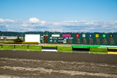 Horse racing results Royalty Free Stock Images
