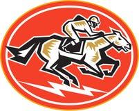 Horse Racing Side Retro Stock Photo