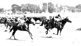 Horse racing sport game stock images