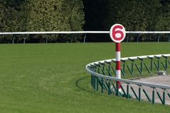 Horse racing track. General view of the horse racing track Royalty Free Stock Photos