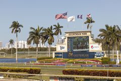 Horse Racing Track at the Gulfstream Park, Florida Stock Photo