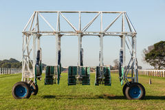 Horse Racing Training Start Gate Stock Photo