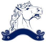 Horse ranch emblem. In Royalty Free Stock Images