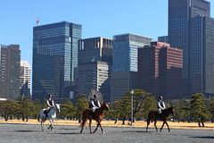 Horse rangers at the Imperial Palace Stock Photography