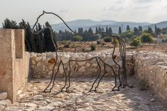 Tel Megiddo National park in Israel stock photo