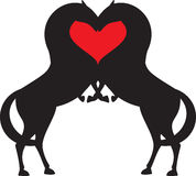 Horse red heart Stock Images