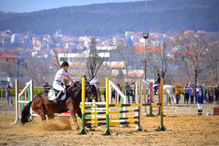 Free Horse Refused Jumping Equitation Competition Stock Photography - 88337752