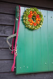 Horse rein at stable door Royalty Free Stock Images
