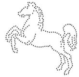Horse Rhinestone colt stallion mare emblem  Royalty Free Stock Photos