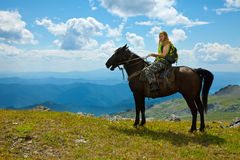 Horse ridding Stock Photography