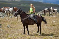 Horse ridding royalty free stock photo
