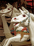 Horse ride. A carousel vintage horse ride Royalty Free Stock Image