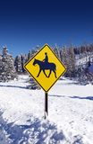 Horse Ride Street Sign Royalty Free Stock Photos