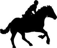 Horse and Rider. Line Art Illustration of a Horse and Rider Royalty Free Stock Image