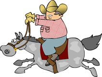 Horse Rider. This illustration depicts a cowboy riding a galloping horse Royalty Free Stock Photos