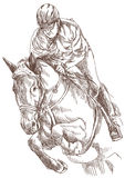 Horse rider. Horse and rider - hand drawing, this is original sketch Royalty Free Stock Photos