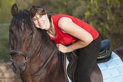 Horse and rider Royalty Free Stock Photos