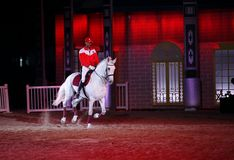 A horse rider of Bahrain performs at Shakir Royalty Free Stock Photo