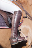 Horse Rider Boot Details Stock Photos