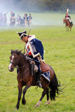Horse rider at Borodino battle historical reenactment in Russia Royalty Free Stock Photography