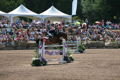 Horse Rider at the Bromont jumping competition Stock Photo