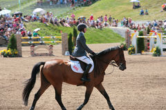 Horse Rider at the Bromont jumping competition Royalty Free Stock Photo
