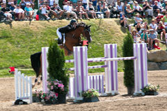 Horse Rider at the Bromont jumping competition Royalty Free Stock Images