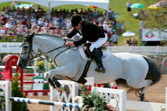 Horse Rider at the Bromont jumping competition Royalty Free Stock Image