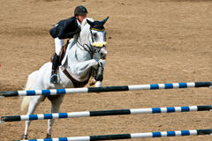 Horse Rider at the Bromont jumping competition Stock Photos